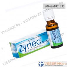 Zyrtec tipat 10 mg/ml, Зиртек 10 мг/мл, капли, 20 мл