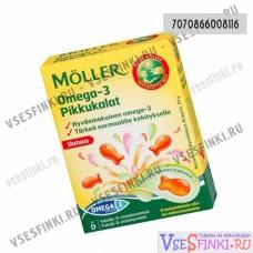 Пищевая добавка Moller omega-3 pikkukalat 45капсул