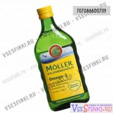 Пищевая добавка Moller рыбий жир 500мл