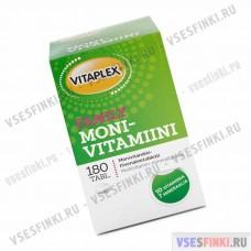 Пищевая добавка Vitaplex  Monivitamiini Family  180табл
