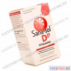 """Витамины Sana-sol  D """"25 мг"""" (лимон) 100табл"""