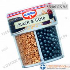 Кондитерская посыпка Dr.Oetker Black&Gold 83гр