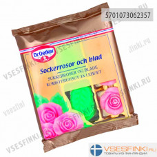 Сахарные розы и листья Dr.Oetker 50гр