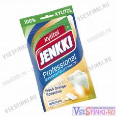 Жевательная резинка Jenkki (апельсин,мята) 90 гр